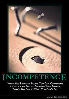 incompetence
