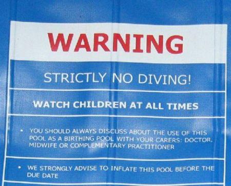 Birth Pool Warning