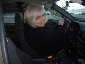 Gloria Lemay in Car